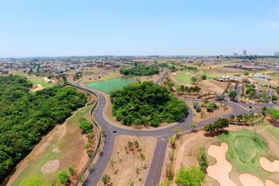 Foto com Drone na Represa do Quinta do Golfe em São José do Rio Preto, SP