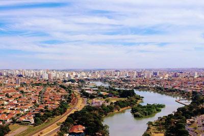 Foto Aérea com Drone - Represa Municipal de São José do Rio Preto, SP